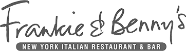 Frankie and Benny's black and white logo
