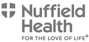 Nuffield Health black and white logo