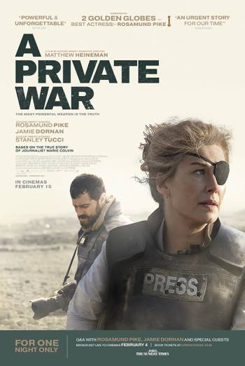 A Private War + Q&A with cast poster