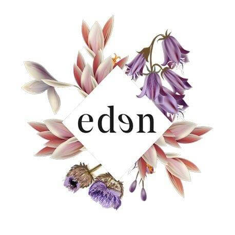 Eden black and white logo