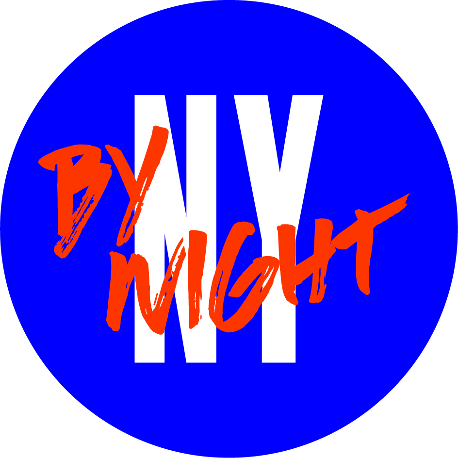 NY By Night black and white logo