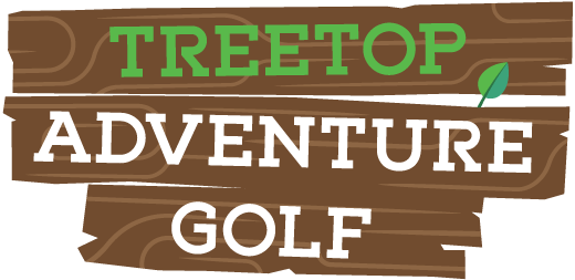 Treetop Adventure Golf black and white logo